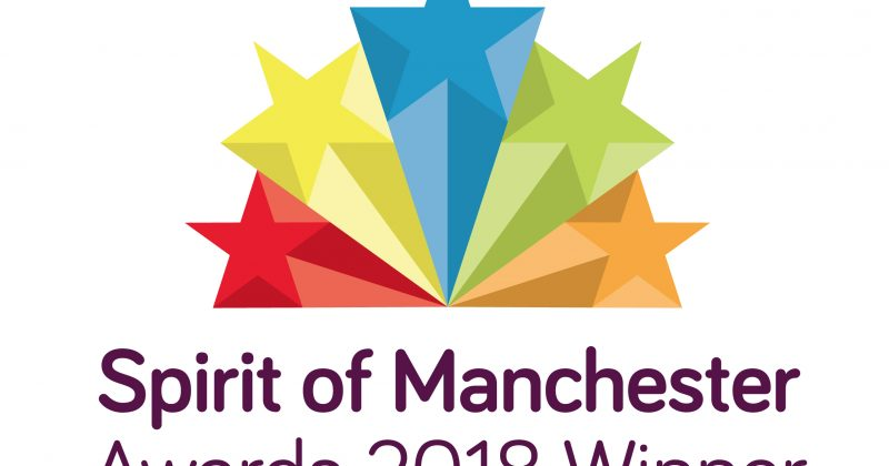 MRSN awarded the 2018 Spirit of Manchester Award in the category of health and well-being for two years in a row, 4th October 2018 .
